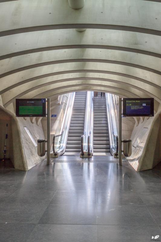 Escalators to the platforms