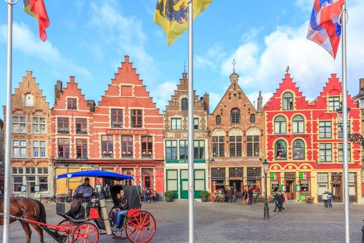 Typical architecture in Bruges, Belgium