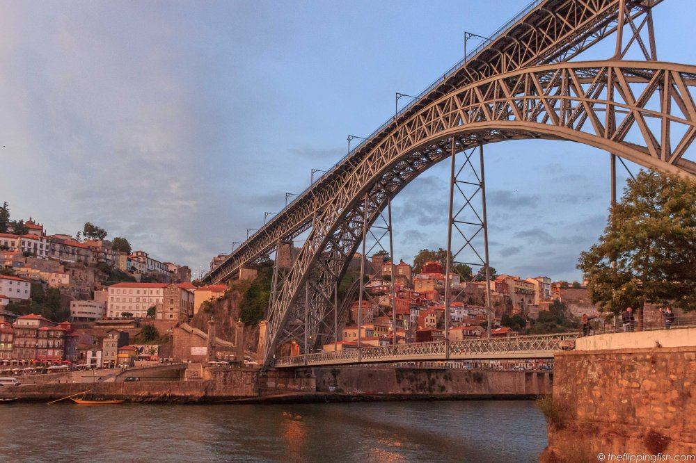 Ponte Luis I, an iconic bridge and landmark of Porto.