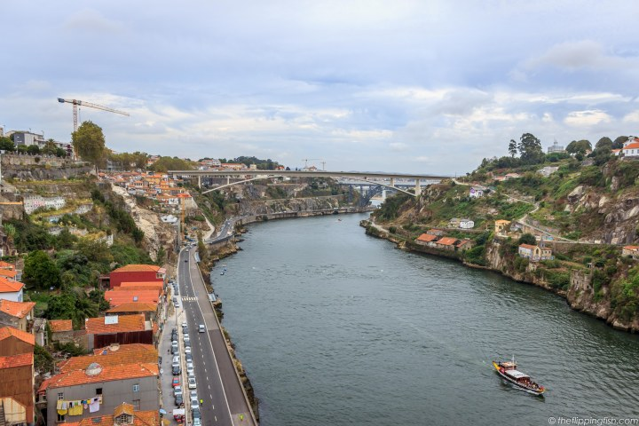 Amazing view of the city from the upper deck of Pont Luis I.